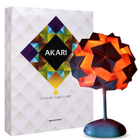 【为思礼 RECESKY】DIY折纸灯 AKARI 小夜灯 可调色氛围灯 益智教育 大人科学
