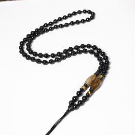 【预售包邮】黑石珠手工编织黑曜石吊坠专用项链绳