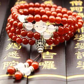 【预售包邮】开光原创新品 手雕旺财貔貅手链 天然红玛瑙手链