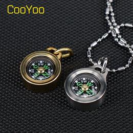 酷友CooYoo CPS1 迷你EDC指北针户外指南针 野营夜光 钛合金黄铜