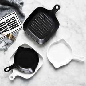 摩登主妇欧式陶瓷造型锅创意哑光煎饼煎蛋锅焗饭盘烘焙烤盘1