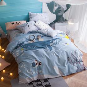 丹麦大版卡通纯棉床单四件套-深海畅想