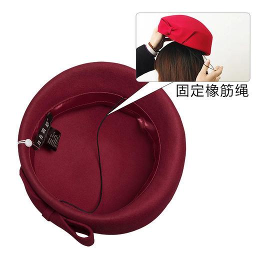 【贝雷帽】秋冬季女画家帽子保暖羊毛呢礼帽子女士欧美贝雷帽空姐礼帽 商品图3