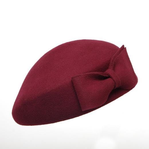 【贝雷帽】秋冬季女画家帽子保暖羊毛呢礼帽子女士欧美贝雷帽空姐礼帽 商品图4