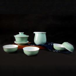 宝瓷林 蹲式杯6头茶具(7色可选)