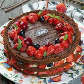 情迷黑森林 | 巧克力草莓裸蛋糕