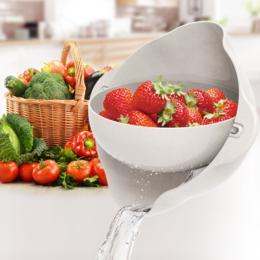 【为思礼】厨房神器 双层沥水篮,清洗、浸泡、沥水、收纳四合一 复购率高 创意家居 创意厨卫