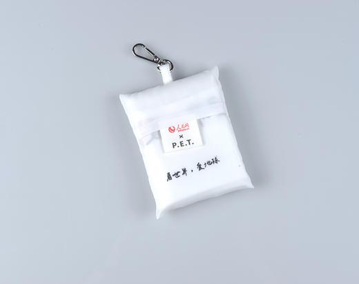 3只回收塑料瓶!人民网 x P.E.T 真·环保面料无染色 钥匙扣随身购物袋 超小超便携【可大宗定制】 商品图2