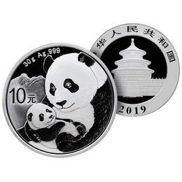 2019年熊猫30克银币 ·中国人民银行发行