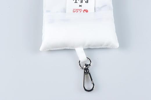 3只回收塑料瓶!人民网 x P.E.T 真·环保面料无染色 钥匙扣随身购物袋 超小超便携【可大宗定制】 商品图3