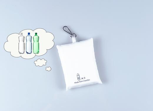 3只回收塑料瓶!人民网 x P.E.T 真·环保面料无染色 钥匙扣随身购物袋 超小超便携【可大宗定制】 商品图1