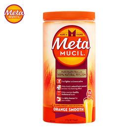 Metamucil美达施膳食纤维粉香橙味114次/罐