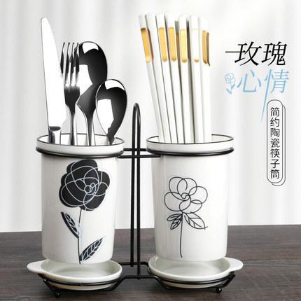 日式尖头家用网红餐具合金筷子10双装家庭防滑防霉耐高温 商品图0