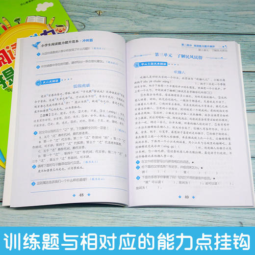【开心图书】小学生阅读能力提升范本基础篇+巩固篇+培优篇+冲刺篇全4册 商品图2