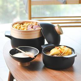悦味砂锅2.3L/3.5L 双容量耐高温瓦罐汤煲 明火家用燃气煲汤锅炖锅