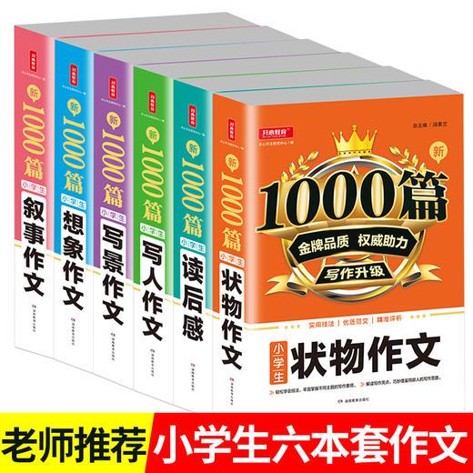 【开心图书】新1000篇·小学生写人叙事写景状物想象读后感作文全系列 商品图0