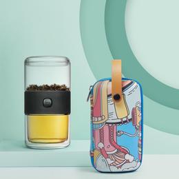 哲品π杯六一版快客杯便携茶具户外旅行茶具套装童趣飘逸杯派杯