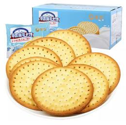 【珠三角包邮】蒙辉内蒙古草原鲜乳大饼干  (原味) 1kg/箱 (次日到货)