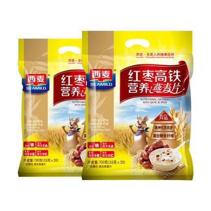 【安全配送】西麦红枣高铁营养燕麦片700g 商品图0