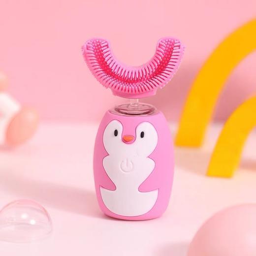 【让宝宝爱上刷牙】艾诗摩尔全自动宝宝儿童电动u型口含式牙刷(赠送木糖醇慕斯牙膏60ml/1支) 商品图9