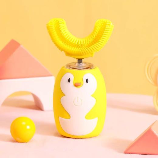 【让宝宝爱上刷牙】艾诗摩尔全自动宝宝儿童电动u型口含式牙刷(赠送木糖醇慕斯牙膏60ml/1支) 商品图8