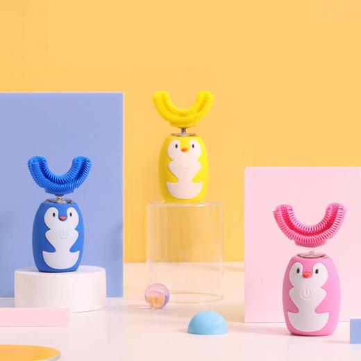 【让宝宝爱上刷牙】艾诗摩尔全自动宝宝儿童电动u型口含式牙刷(赠送木糖醇慕斯牙膏60ml/1支) 商品图5
