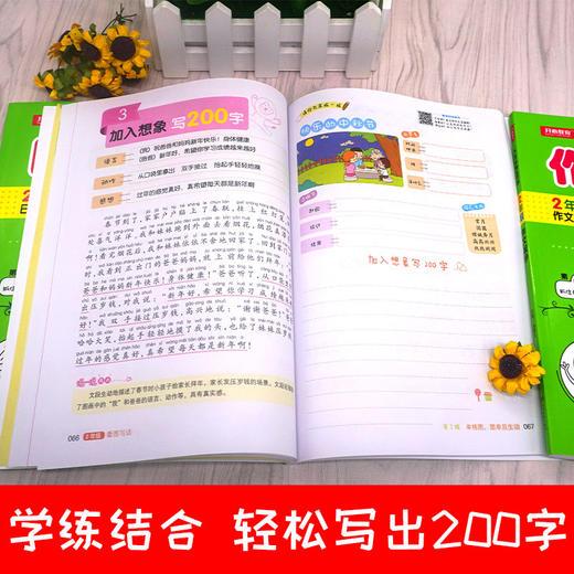 【开心图书】1-2年级从20字到200字看图写话+日记起步+作文起步共3册+1册跟着笨狼学作文 商品图6