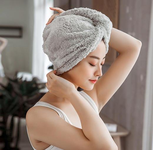 【为思礼】【买一送一!玻尿酸干发帽送毛巾】 让湿发变干发,法国微胶囊干发帽 用一次=3500次发膜 商品图5