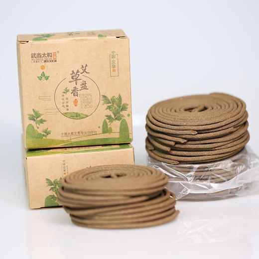 茅箭艾草盒装盘香(10片) 商品图3