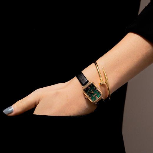 【限时赠手镯1枚】「年度星品 小绿表」SUNKTA森系细带孔雀石幸运小绿表日本进口机芯女士ins风轻奢复古小方盘手表 商品图7