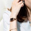【限时赠手镯1枚】「年度星品 小绿表」SUNKTA森系细带孔雀石幸运小绿表日本进口机芯女士ins风轻奢复古小方盘手表 商品缩略图3