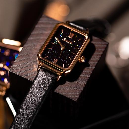 【限时赠手镯1枚】「年度星品 小绿表」SUNKTA森系细带孔雀石幸运小绿表日本进口机芯女士ins风轻奢复古小方盘手表 商品图14