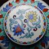 蓝和白 仿明成化手绘斗彩穿花凤纹天字罐储茶罐 商品缩略图3