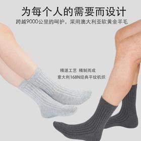 【甄选澳洲羊毛 舒适保暖】基础生活Basic Live羊毛情侣袜  吸湿排汗  高弹锁热 品质之选