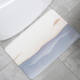 「搞不脏的地垫 1秒瞬吸」泥的物语Q弹硅藻泥吸水软地垫 硅藻土速干脚垫 厨房浴室卫生间防滑垫进门垫 环保材质  海量吸水 防污防油 可机洗脱水 安全防滑