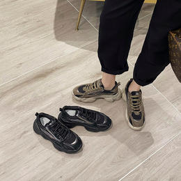 原价598 特卖价139 步黛尔女靴 老爹鞋女ins潮2020年秋季新款百搭运动学生鞋子黑色爆款女鞋 6061 OU yf