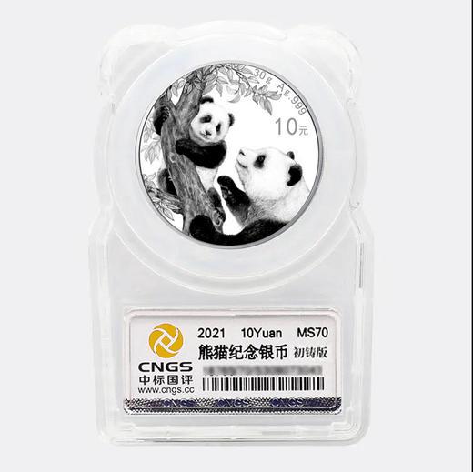 【初铸版】2021年熊猫30克银币·封装满分版 商品图1