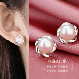 PDD-TXSP201107纯银真淡水珍珠耳钉TZF