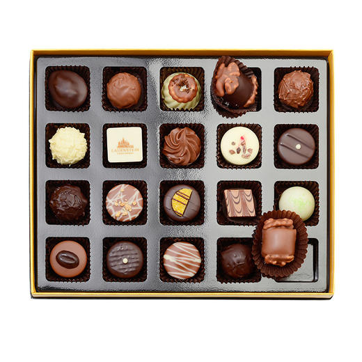 [LAUENSTEIN城堡巧克力金装礼盒]口感醇厚 齿颊留香 20粒/260g/盒 商品图2