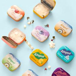 【丰富维生素,双重薄荷,清新加倍】瑞士kissport接吻糖,0蔗糖,添加胶原蛋白,多种维生素,13种缤纷果味