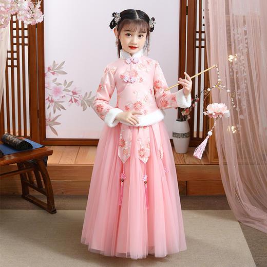 YZFFS-HF0023新款中国风优雅气质立领长袖加厚绣花汉服两件套TZF 商品图2
