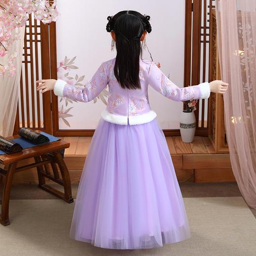 YZFFS-HF0023新款中国风优雅气质立领长袖加厚绣花汉服两件套TZF 商品图4
