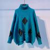 YNYMS-G-YN6689新款时尚气质宽松百搭高领长袖加厚针织毛衣TZF 商品缩略图4