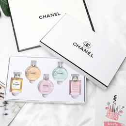 送手提袋!【2021香奈儿新款礼盒】Chanel/香奈儿香水邂逅女士持久淡浓香水小样 无喷头 COCON5号7.5ml