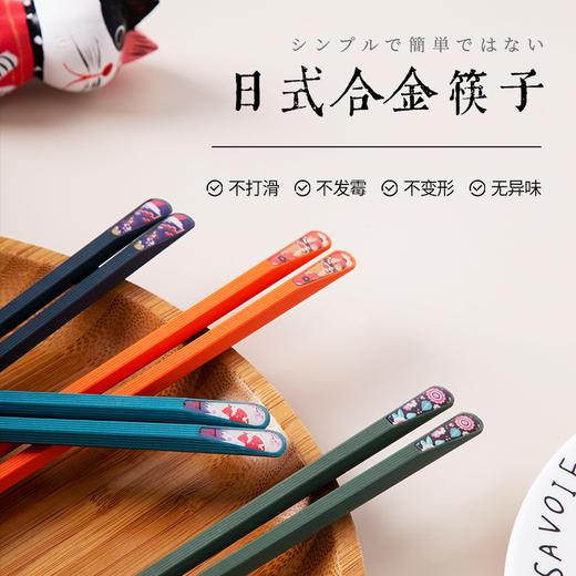 【20双30双送牙贴洁牙慕斯赠品送完即止】日式合金筷子 家用高颜值 一人一筷 耐高温防霉防滑分餐 商品图0