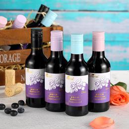 蓝莓红酒女士果味果酒凯缘春半甜养颜小瓶迷你礼盒装小葡萄酒
