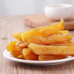 【黄金薯干】农家原味倒蒸地瓜干 自制软糯鲜蒸 红薯干 番薯条 香蜜薯干