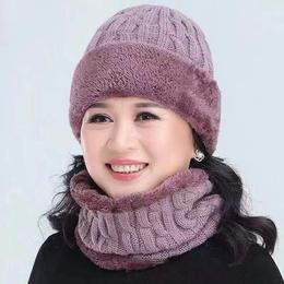 XMDZ新款冬季男女款加绒保暖帽加围脖TZF