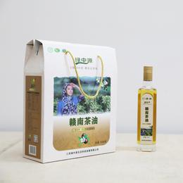绿中源赣南茶油 一级压榨 纯山茶油 500毫升/瓶*2(礼品装)