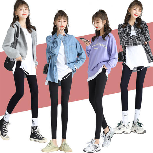 """限时买1送1!【收腹效果惊人!可以练瑜伽的打底裤!】全新韩国""""定制版"""" 鲨鱼皮全能裤,遮肉显瘦,轻暖珊瑚粉绒,3D翘臀,时尚百搭,一条穿三季! 商品图0"""